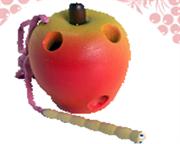 Яблоко краш.-шнуровка ДШ-071  8х6см