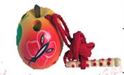 Яблоко-шнуровка малое расписное ДШ-022   5х5см