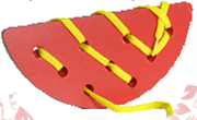 Арбузная долька шнуровка ДШ-002  7х16см