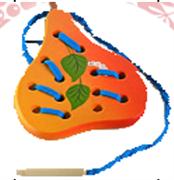 Груша плоская шнуровка ДШ-012  15х10см