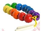 Бусы Радуга шары цветные (14 шт.)ДИ-001  диаметр 3,5см