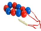 Бусы счет до 10 (красно-синие)ДИ-003 диаметр 3,5см