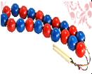 Бусы счет до 20 (красно-синие)ДИ-004 диаметр 3,5см