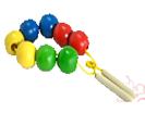 Бусы шары цветные(8 шт.)ДИ-006 диаметр 3,5см