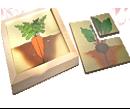 Картинки разрезные  «Овощи»  ДИ-068 16х16 см