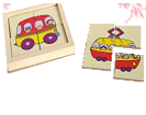 Картинки разрезные «Транспорт городской» ДИ-104  16х16 см