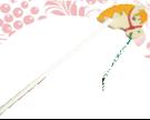 Лошадка скакалка Новая ДИ-061  18х20 см Длина ручки 80 см
