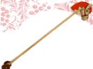 Лошадка скакалка Новая на колесиках  ДИ-060  18х20 см Длина ручки 80 см