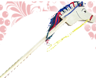 Лошадка-скакалка малая  ДИ-063   18х20 см Длина ручки 80 см