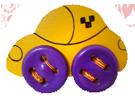 Машинка Желтая шнуровка ДШ-078  10х16 см
