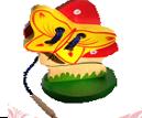 Мухомор с бабочкой  шнуровка на подставке ДШ-035  13х8 см