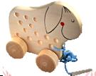 Ослик на колесиках массив.ДШ-039  13х13 см