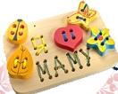 "Панно-шнуровка ""Я люблю маму"" лак. основа ДШ-040  18х27 см"