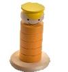 Паренек-пирамидка желтая ДИ-072  12х7 см