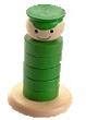Паренек-пирамидка зеленая ДИ-073  12х7 см