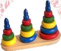Пирамидка больше - меньше цветная ДИ-081 25х7х18 см