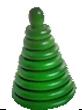 Пирамидка Зеленая  8 деталей ДИ-084   13х9 см