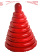 Пирамидка Красная 8 деталей ДИ-085   13х9 см