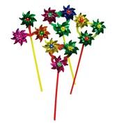 ветродуй 17 см палочка 40 см 4 цвета(125053)