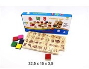 деревянная игрушка набор печатей акция скидка 65%(87172)