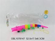животные крокодил со светом и музыкой 3 цвета(124504)