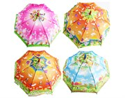 зонтик 45 см 4 вида со свистком(113720)