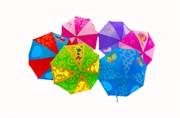 зонтик 45 см 6 видов со свистком(113712)