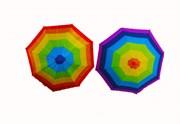 зонтик 50 см 3 цвета со свистком(113708)