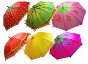 зонтик 50 см 6 видов со свистком(118251)