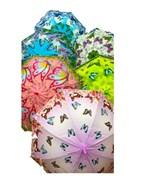 зонтик 54 см 6 цветов со свистком(113696)