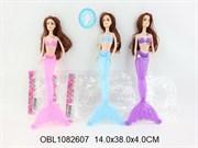 кукла русалка со светом 3 цвета(121700)