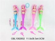 кукла русалка со светом 4 цвета(121686)