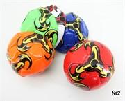мяч футбольный размер 2 PVC 2,5 мм 6 цветов 100 г(124426)