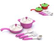 """НордПласт: Набор посуды """"Кухонный сервиз """"Волшебная Хозяюшка"""" (7 предметов в сетке)(9722)"""