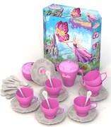 НордПласт: Набор чайной посудки БАРБИ (34 предмета в коробке)(9648)