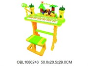 пианино на батарейках на станине с табуреткой(122373)