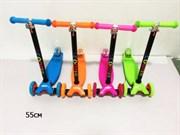 самокат 4 колеса PVC 55 см 4 цвета  (роз,син,ор,зел) акция сезонная скидка 50%(113370)