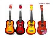 гитара деревянная 4 цвета(126587)