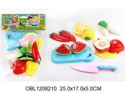 фрукты и овощи на липучке набор с разделочной доской(126987)