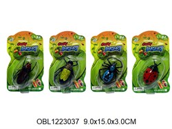 насекомые нано жук вибрационный 4 вида(127224)