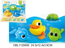 животные заводные водоплавающие 3 шт/упаковка(127518)