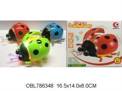 насекомые на батарейках жук со светом и музыкой 3 цвета(128269)