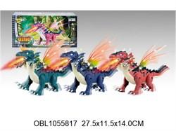 животные на батарейках дракон со светом и музыкой 3 цвета(128491)