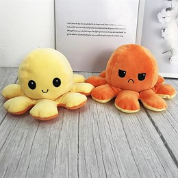 Мягкая игрушка осьминог перевертыш  20 см (в ассортименте)