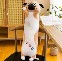 Мягкая игрушка мопс 55 см